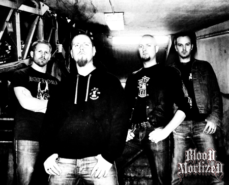 Blood Mortized bandfoto