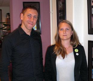 Jesper Thorsson (ADA Nordic) och Elin Trogen (3NO Music)